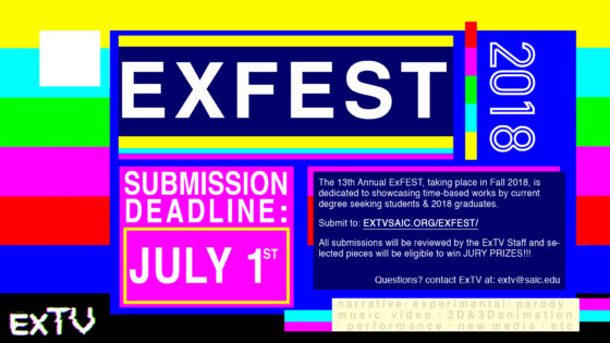 Submit Your Work to ExFEST 2018, ExTV's Annual Student-Run Film Festival!